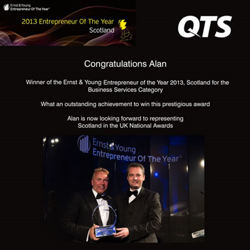 QTS win Green Apple Award