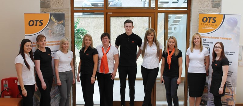 QTS Staff Modelling our Uniforms