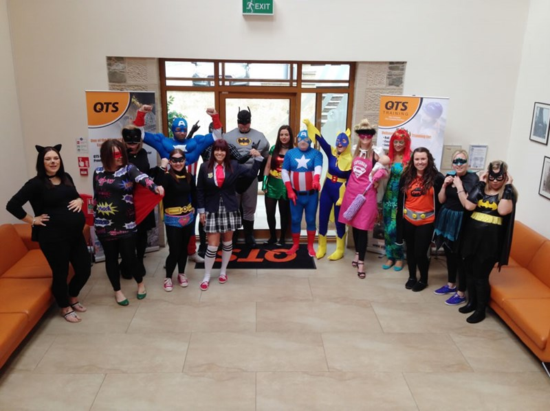 QTS take on Heroes V. Villains day in aid of Cash for Kids
